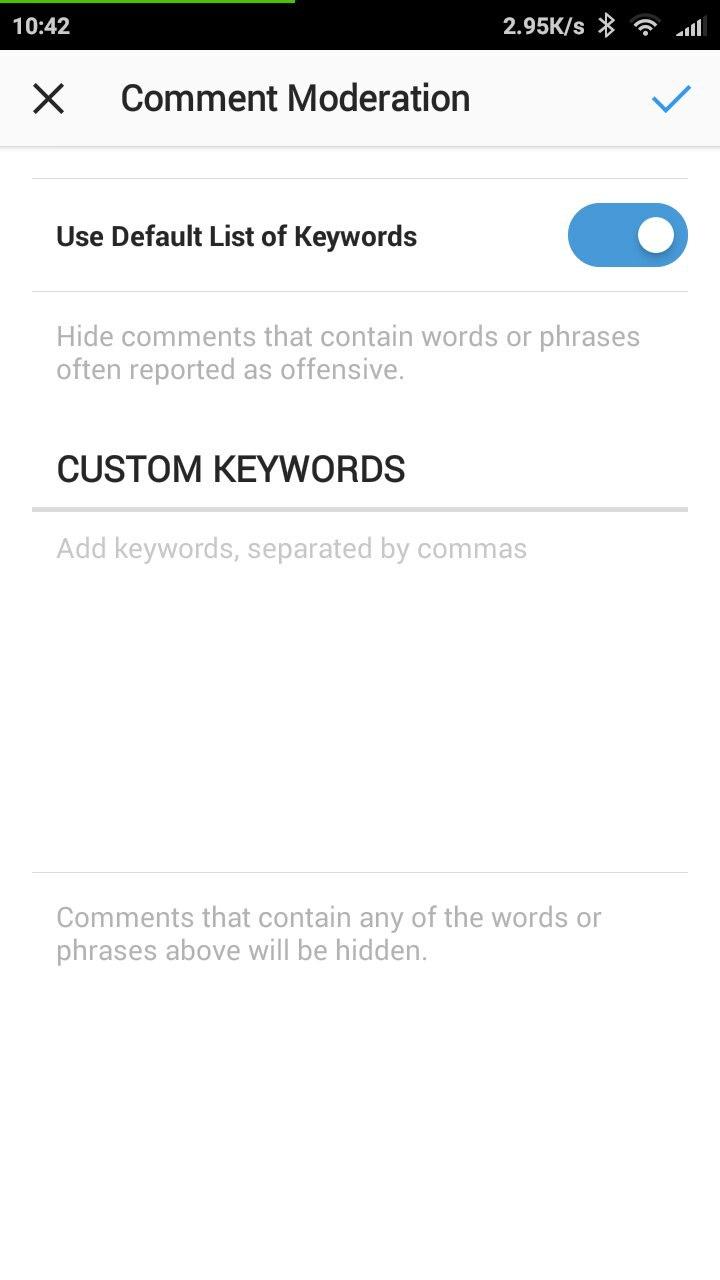 Фильтр комментариев Инстаграма