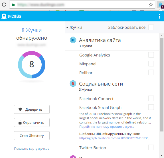 Расширение Ghostery для Chrome