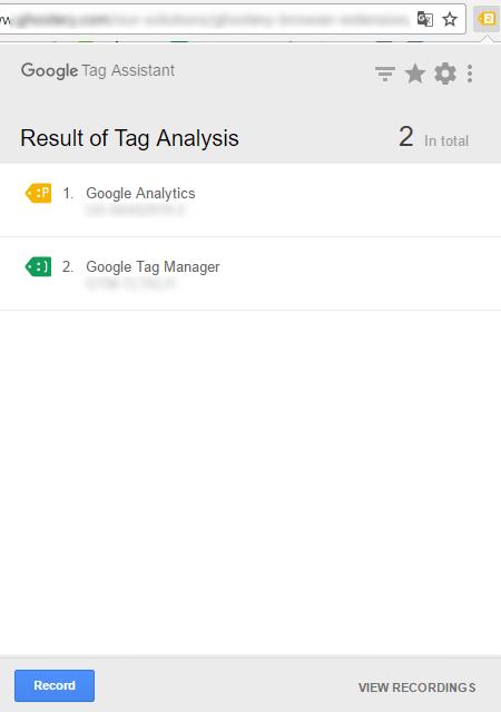 Расширение Google Tag Assistant для Chrome