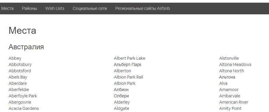 Пример многоступенчатой HTML-карты сайта