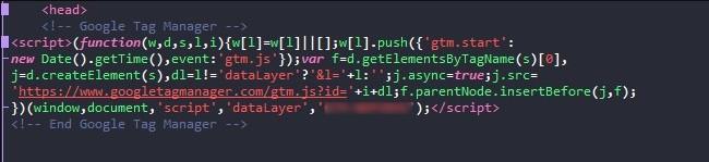 Размещаем код в разделе head своей страницы