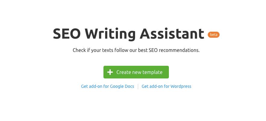 SEO Writing Assistant от SEMrush