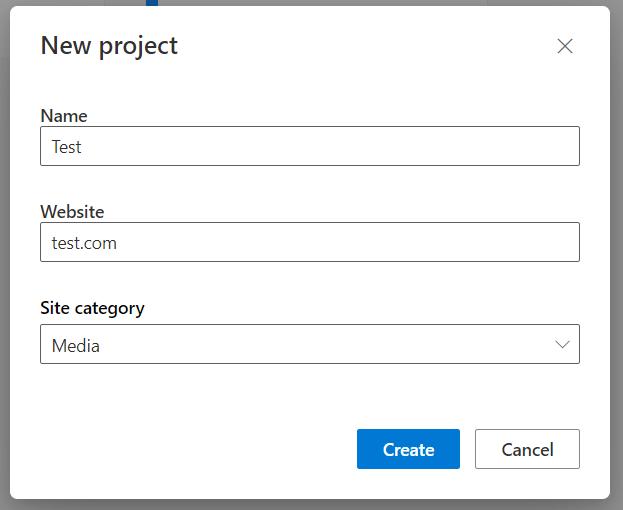 Создание нового проекта в сервисе Microsoft Clarity